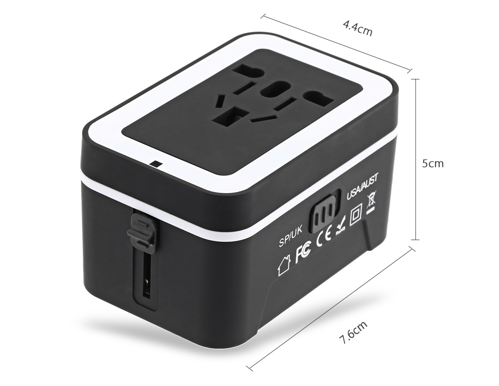 All in One International Travel Dual USB Port Wall Charging Adapter