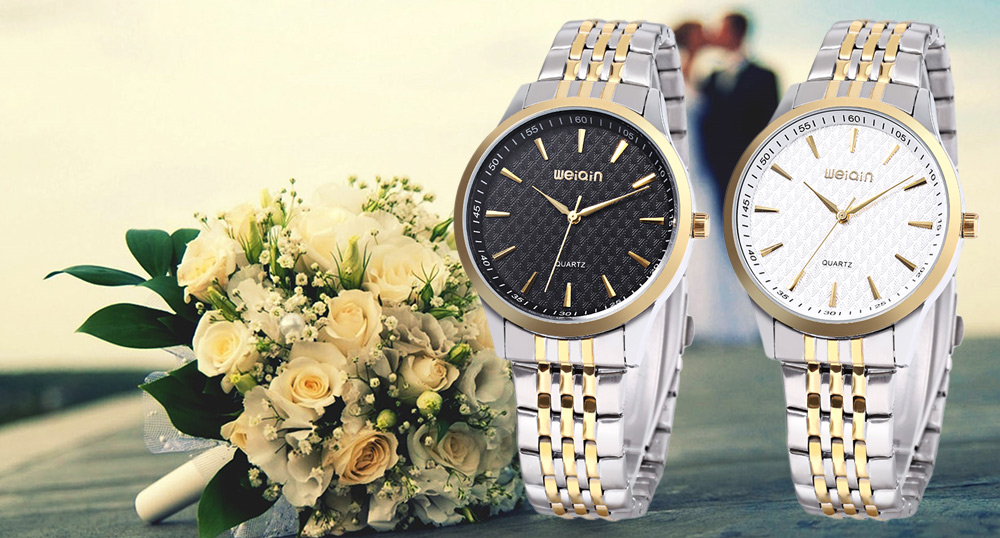 WEIQIN W00104G Men Quartz Watch 3ATM Imported Movt Stainless Steel Band Wristwatch