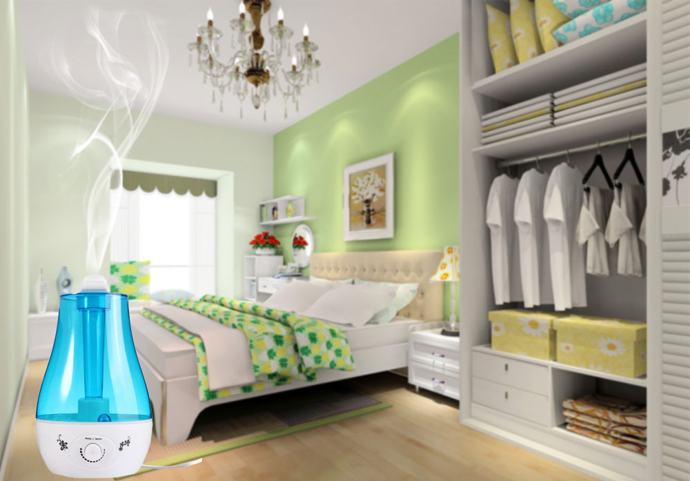 2.5L Mini Home Humidifier Air Purifier with LED Lamp