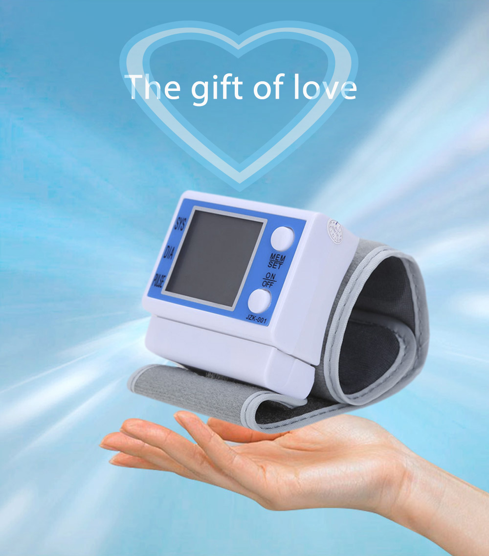 Lightweight Portable Automatic Digital Wrist Blood Pressure Monitor Health Care