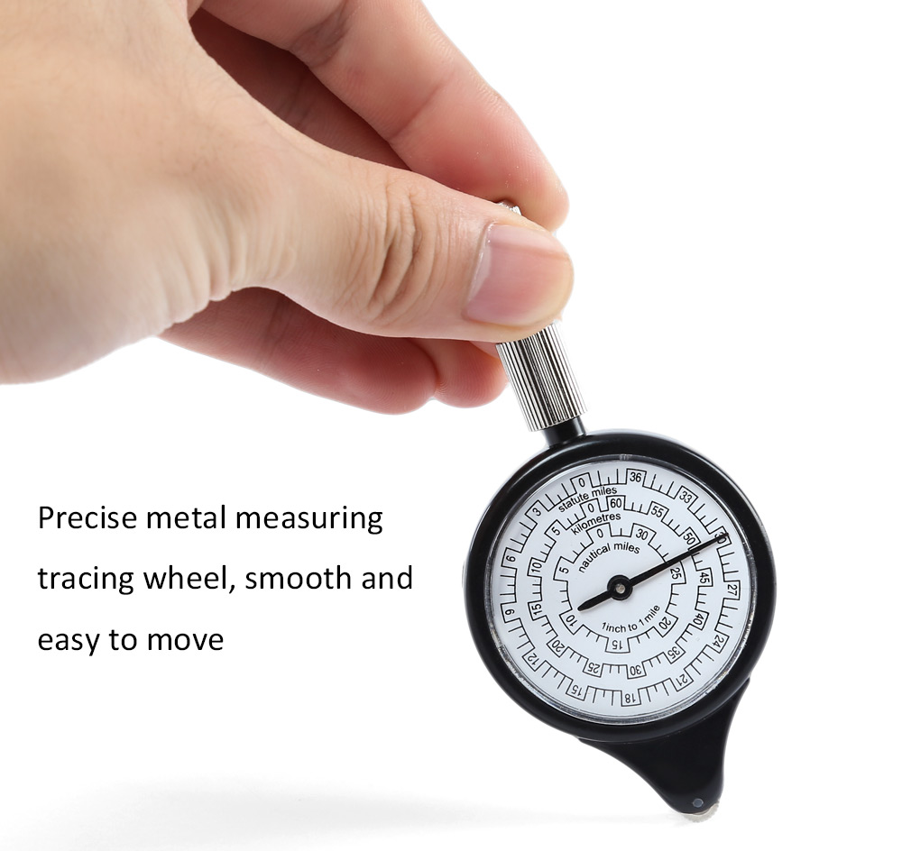 Outdoor Camping Hiking Tool Map Measurer Compass Distance Calculator