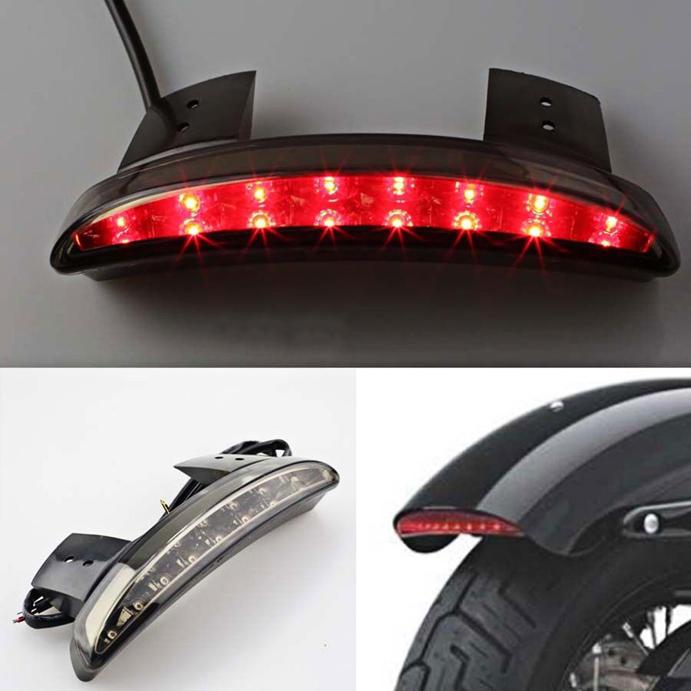 Motorcycle LED Tail Light Rear Fender Break Stop Turn Signal Lamp for Harley