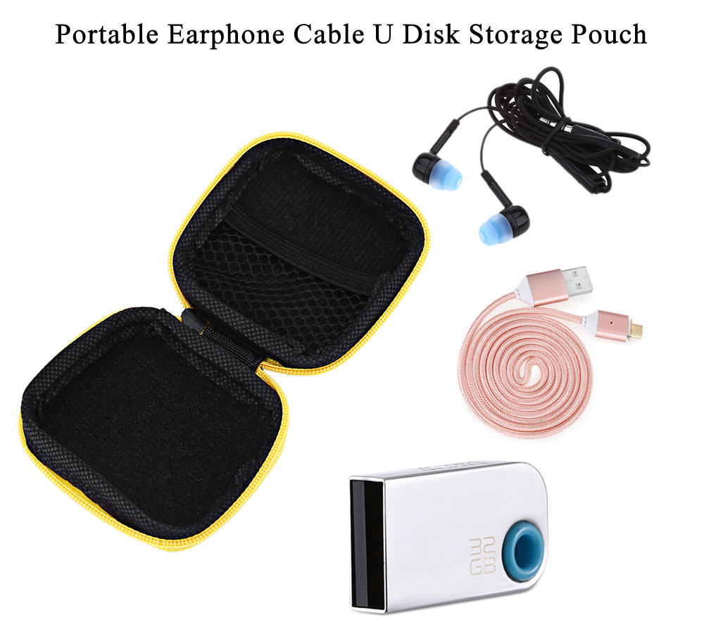 Portable Earphone Cable Sundry Storage Pouch Carrying Bag