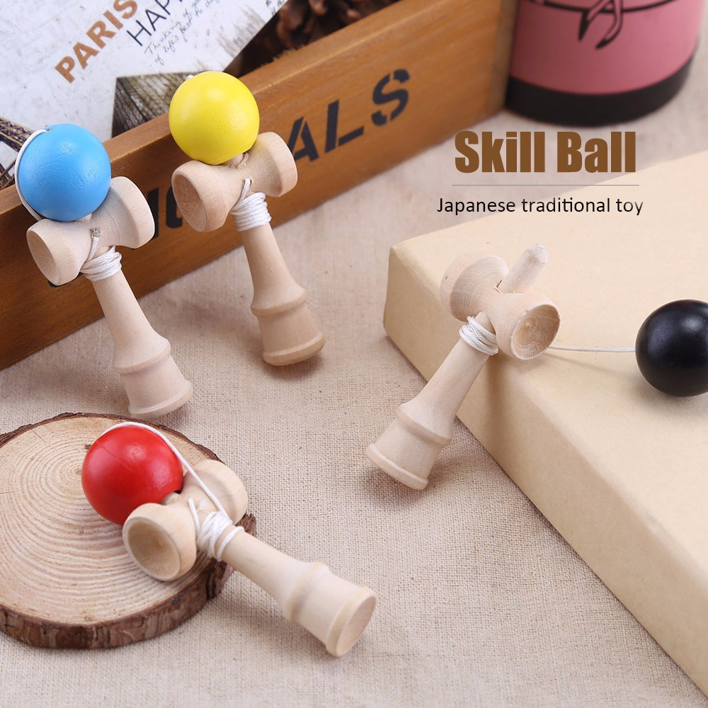 Japanese Traditional Game String Toy Mini Bamboo Skill Ball