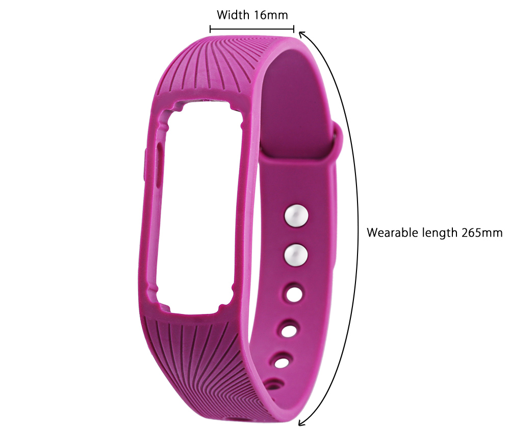 16MM Silicone Band Sport Watch Strap Buckle Wristband