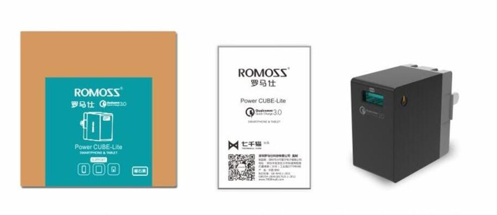 ROMOSS AC18Q Qualcomm Certificated QC 3.0 Quick Charger