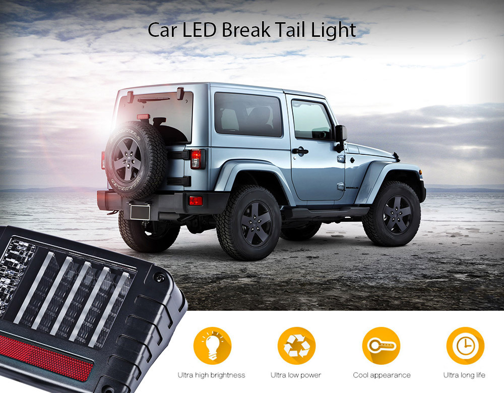 2pcs OL - JT03 Car LED Rear Break Tail Light for Jeep Wrangler