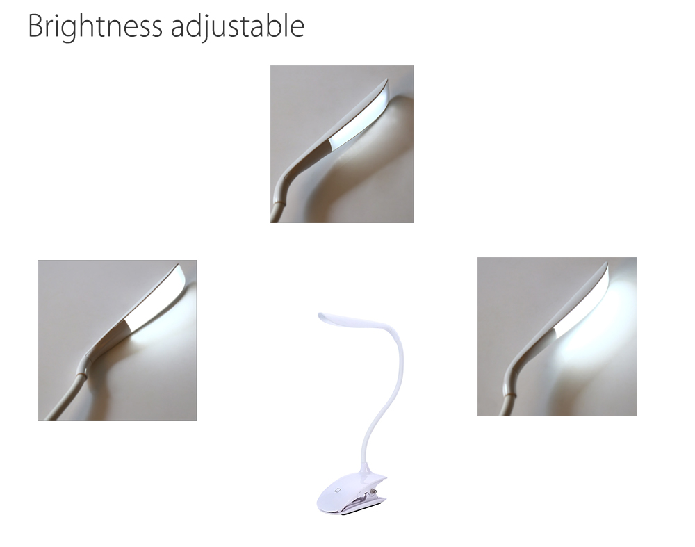 Adjustable Clip Desktop Light Lamp with Touch Switch