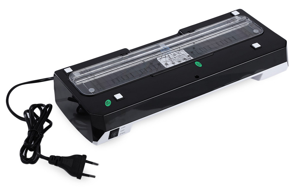DSB HQ - 236 Thermal / Cold Laminator 2 Roller System Laminating Pouches Document Photo Lamination High Speed Laminate Machine