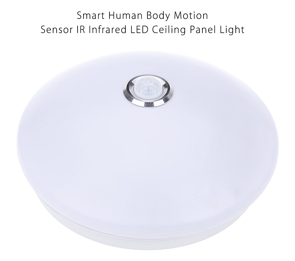 10W 800LM Human Body Motion Sensor IR Infrared LED Ceiling Panel Light Down Lamp