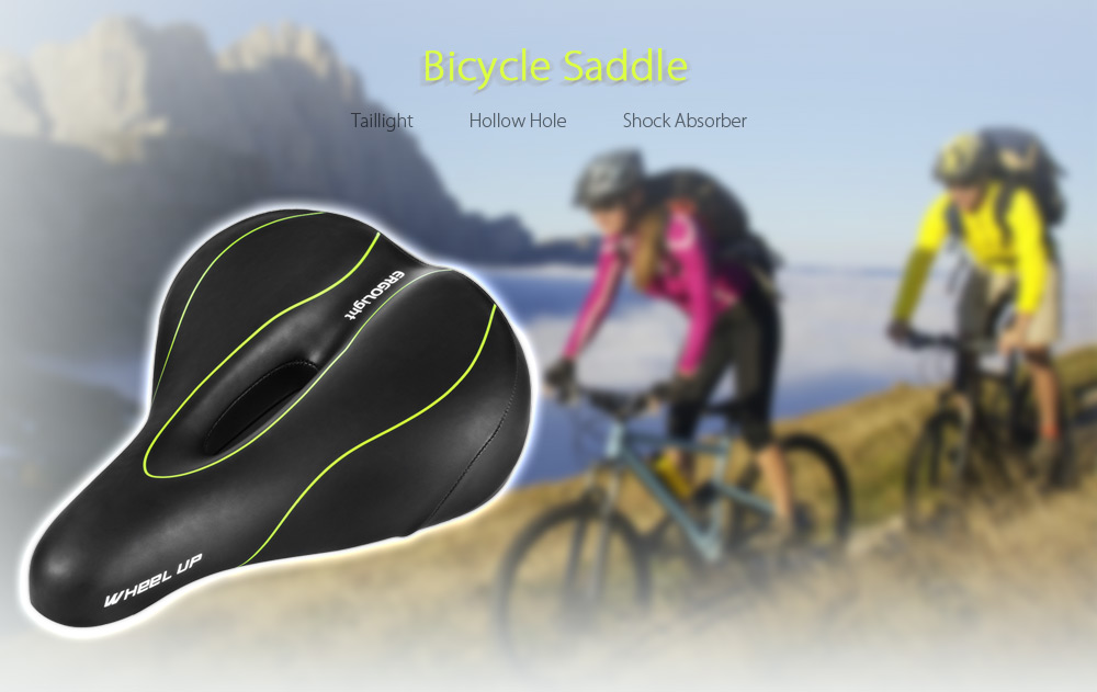 WHEELUP Elastic Bicycle Seat Saddle with Taillight Cycling Equipment