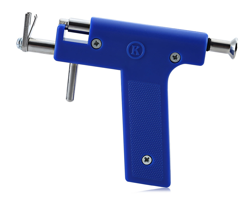 Professional Stainless Steel Nose Ear Navel Body Piercing Gun