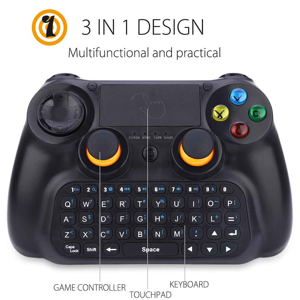 DOBE TI - 501 3 in 1 Wireless Multifunctional Controller Keyboard Keypad Mouse TouchPad for Android Smart TV / Pad / PC