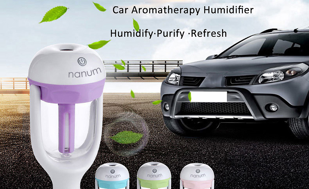 Mini Car Aromatherapy Humidifier Car Charger with Fresh Purification Function