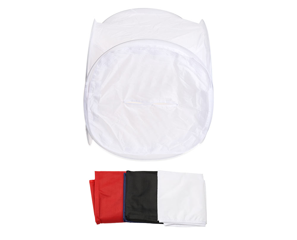 80CM Cube Soft Box Light Tent Photo Studio with 4 Colorful Backdrop