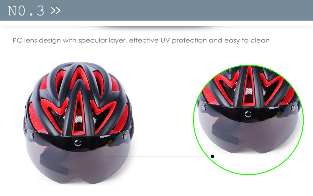 SAVA Unisex 57 - 62CM Ultralight Lightweight Bicycle Bike Safety Hat Cycling Helmet with Goggles Glasses