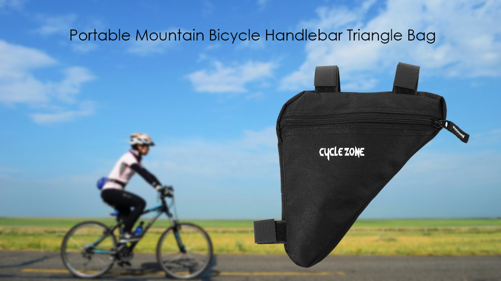 CYCLE ZONE Triangle Cycling Bike Bicycle Front Tube Frame Pouch Bag Holder Saddle