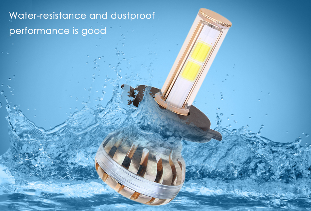 Paired C8 H4 80W LED Automobile Car Headlight