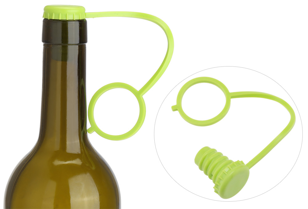 Anti-lost Silicone Bottle Stopper Hanging Button Wine Beer Cap Plug