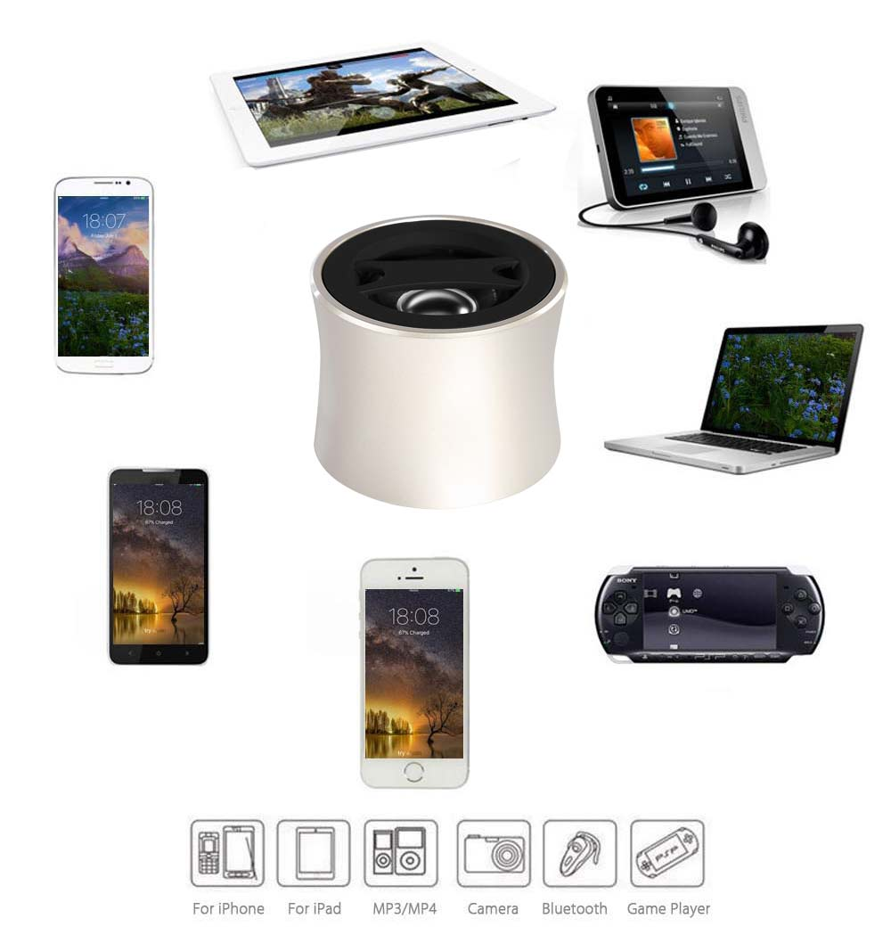 Portable Bluetooth Speaker AUX TF Card Music Player