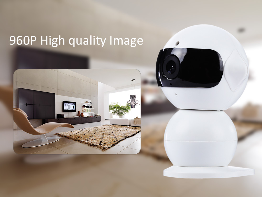 HK A6 Mini Robot 960P Wireless Home Security IP Camera with Mic