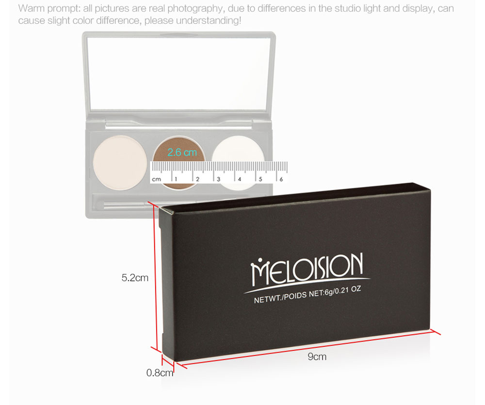 Meloision Magic Waterproof Long Lasting Eyebrow Powder with Cream