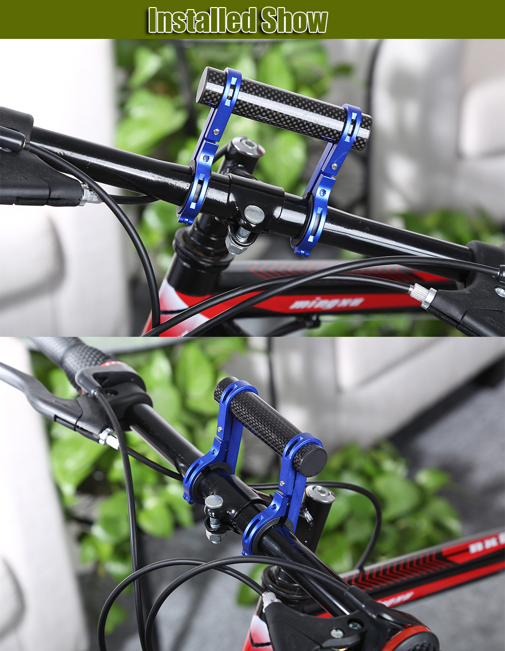Road Bicycle Double Handlebar Extended Mount Carbon Fiber Extender Holder