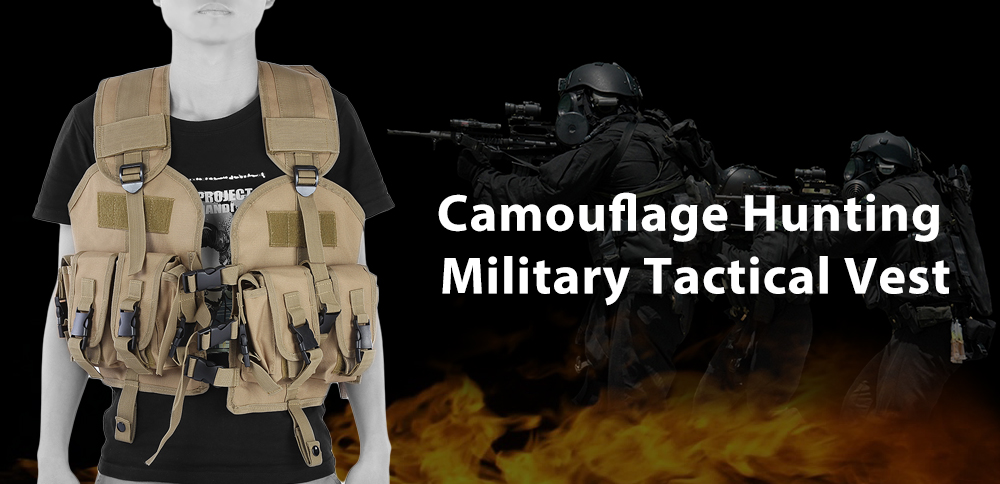 Camouflage Hunting Military Tactical Vest Wargame Body Molle Armor CS Outdoor Equipment
