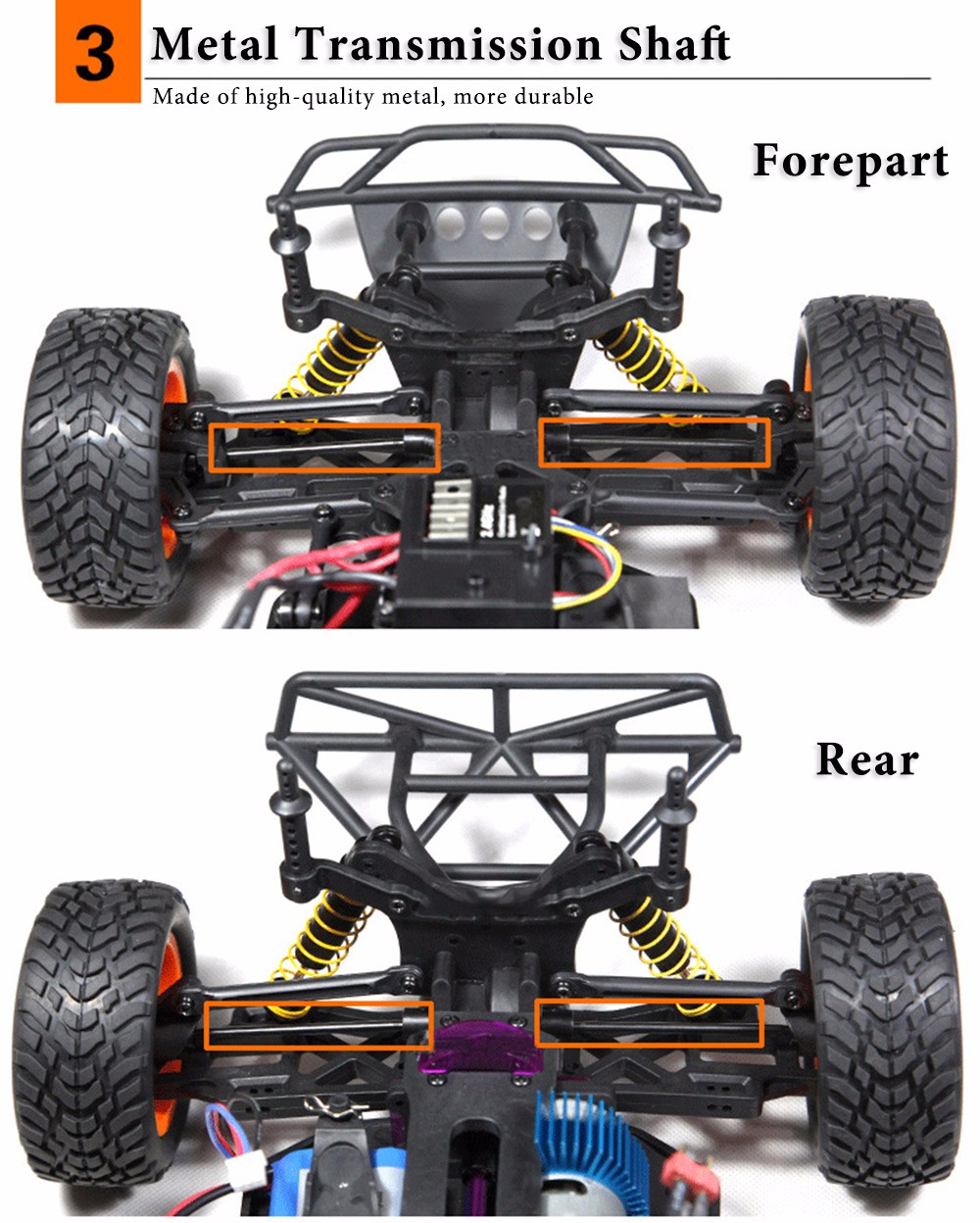 HUANQI 741 2.4GHz 1 : 10 4WD 4CH 40KM/H Electric RTR Remote Control Truck Racing Car