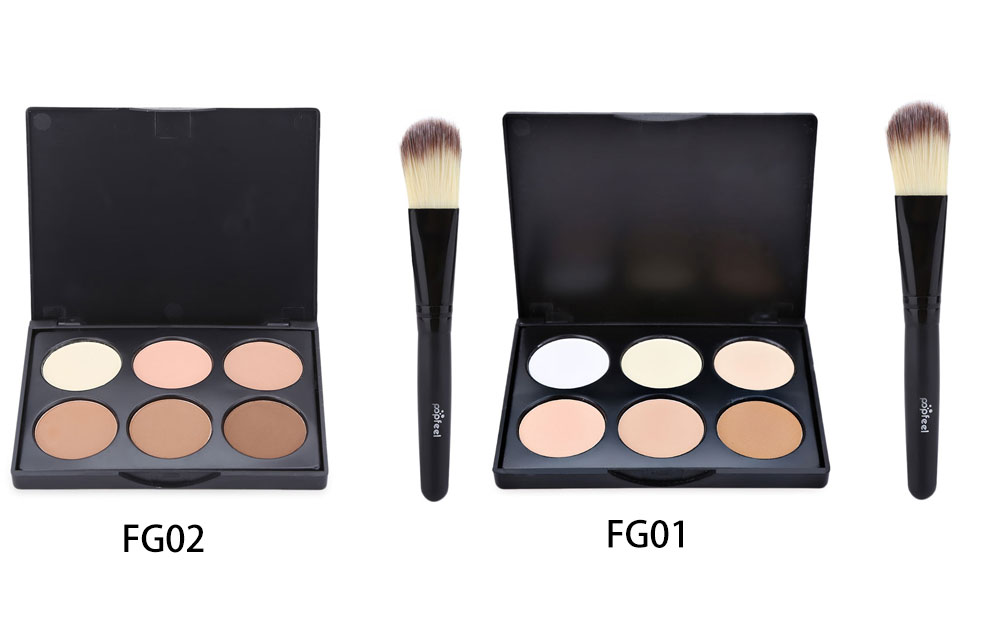 6 Color Foundation Contour with Powder Brush