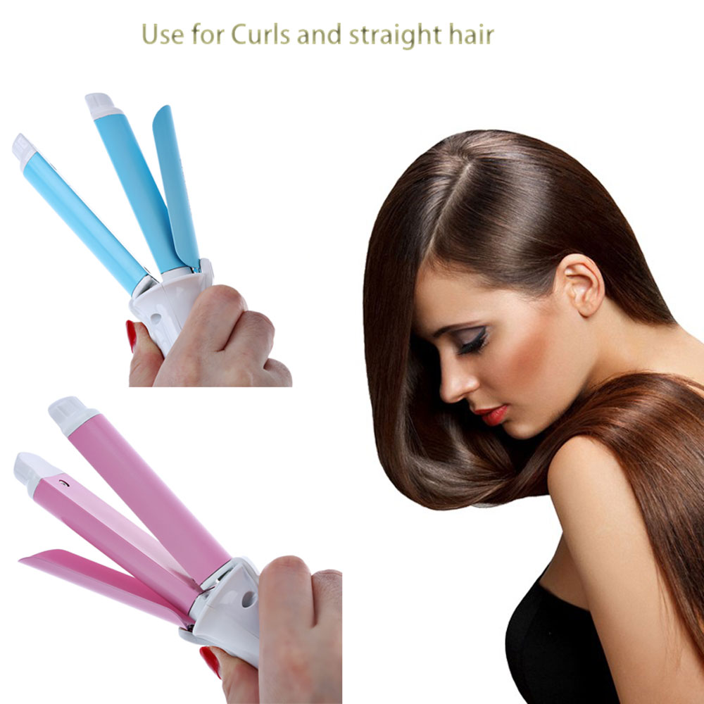 Dual-Use Electric Personal Ceramic Curling Straight Iron Hair Curler