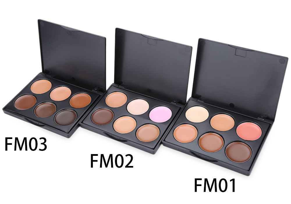 6 Color Beauty Tools Three-dimensional Foundation Concealer Cream