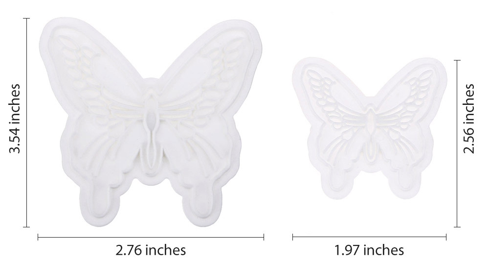 2pcs Butterfly Cake Fondant Decorating Sugar Craft Cookie Mold