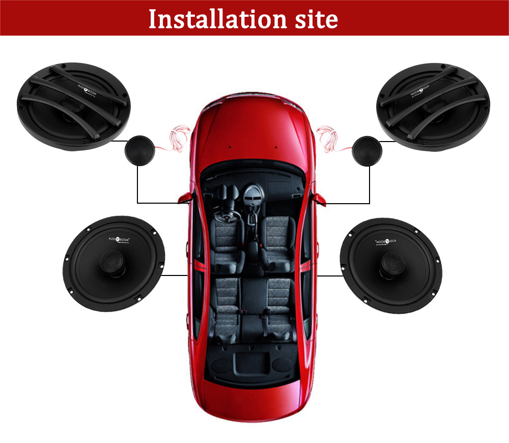 Paired Leibo AF - 6503S Automobile Component Audio Speaker 6.5 Inches High Pitch Bass Extender
