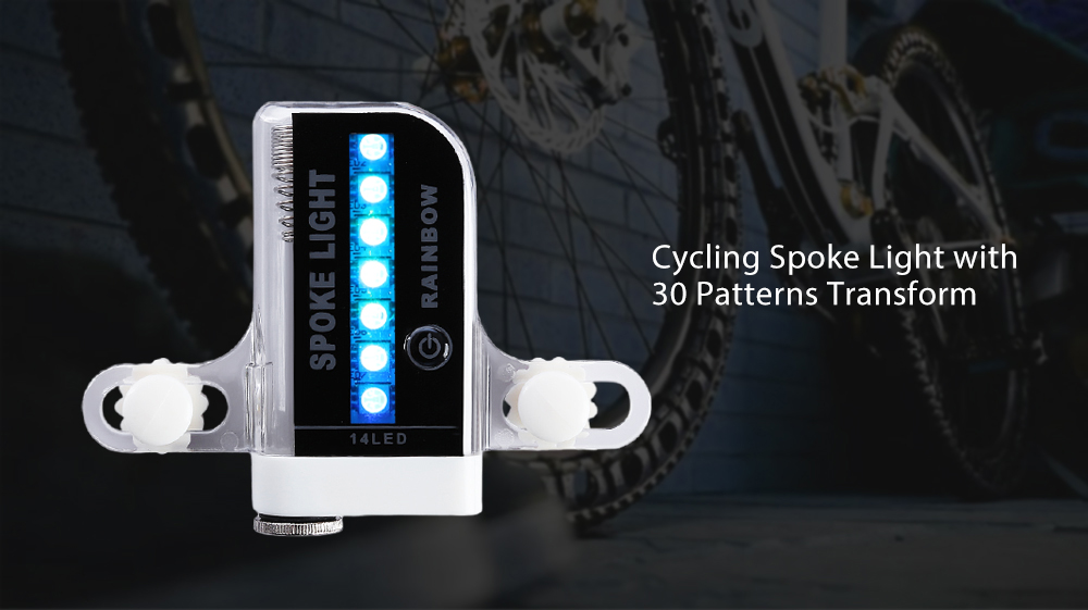 Cycling Spoke Light 30-patterns Transform Bicycle Wheel LED Colorful Light