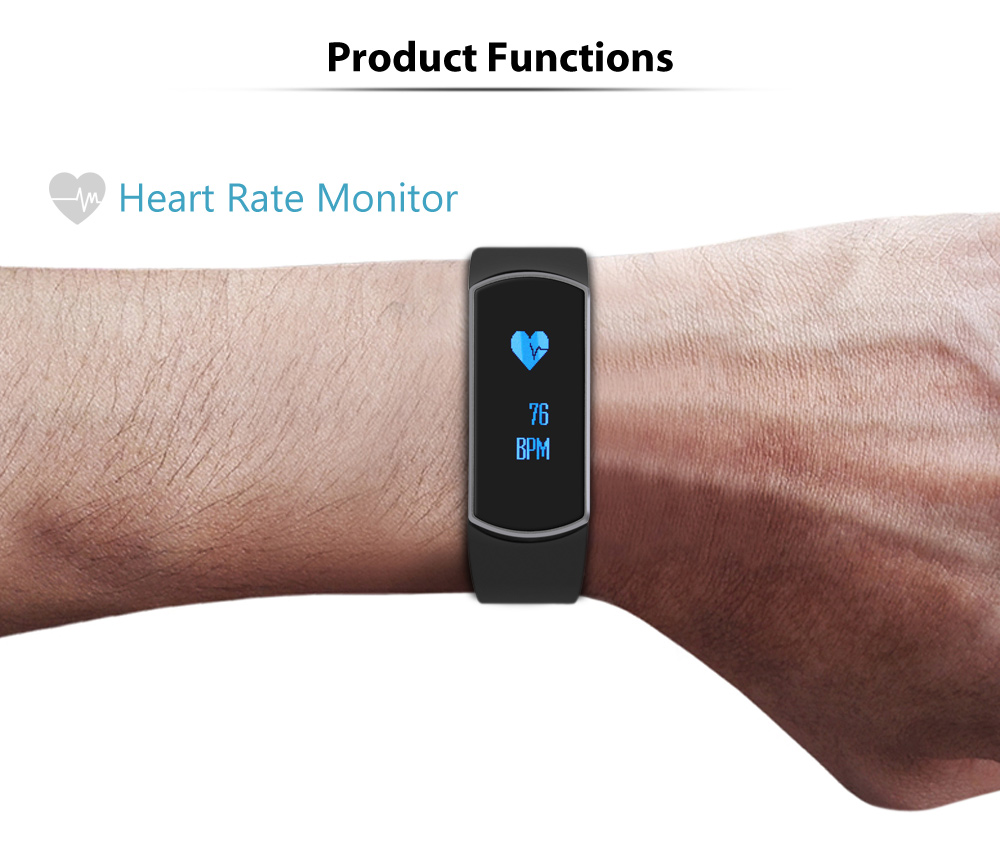 TRASENSE SH09 OLED Smart Watch IP67 Waterproof Heart Rate Sport Bracelet for Android iOS