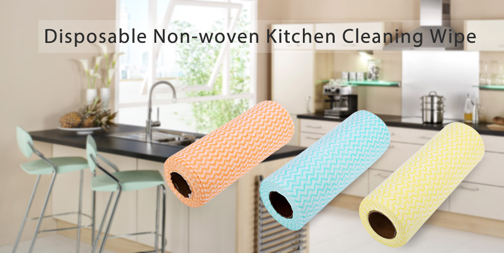 50pcs Multipurpose Non-woven Fabric Nonstick Wiping Rags House Cleaning Cloth Kitchen Dishcloth
