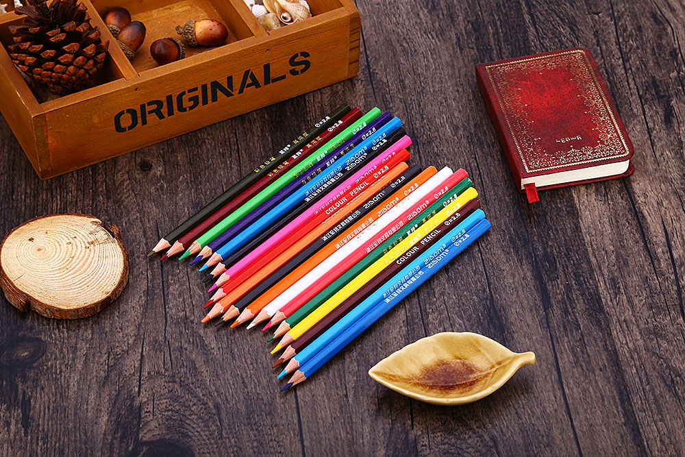 Zibom 24 Colored Pencil Kit Drawing Pen for Artist Sketch