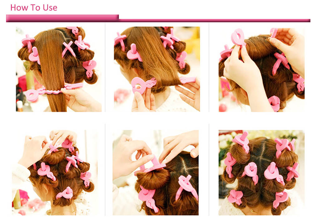 6pcs Fashion Lady Sponge Hair Curler for Hair Styling