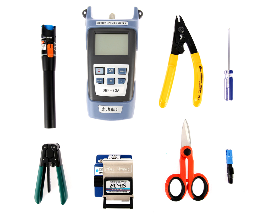 Fiber-optic Tool Set Wire Cable Stripper Pliers Multi-fiber Optical Power Meter