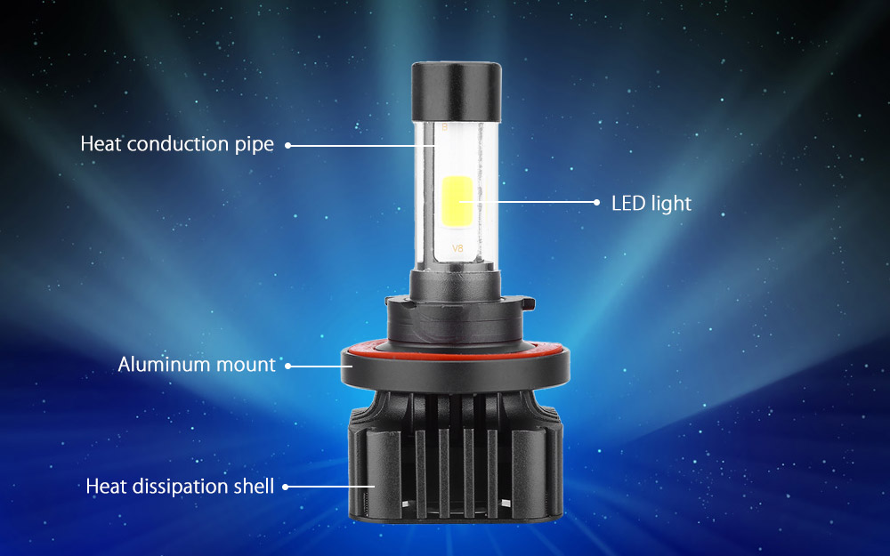 H13 V8 40W Integrated LED Vehicle Headlight Automobile Vibration Resistance Heat Dissipation