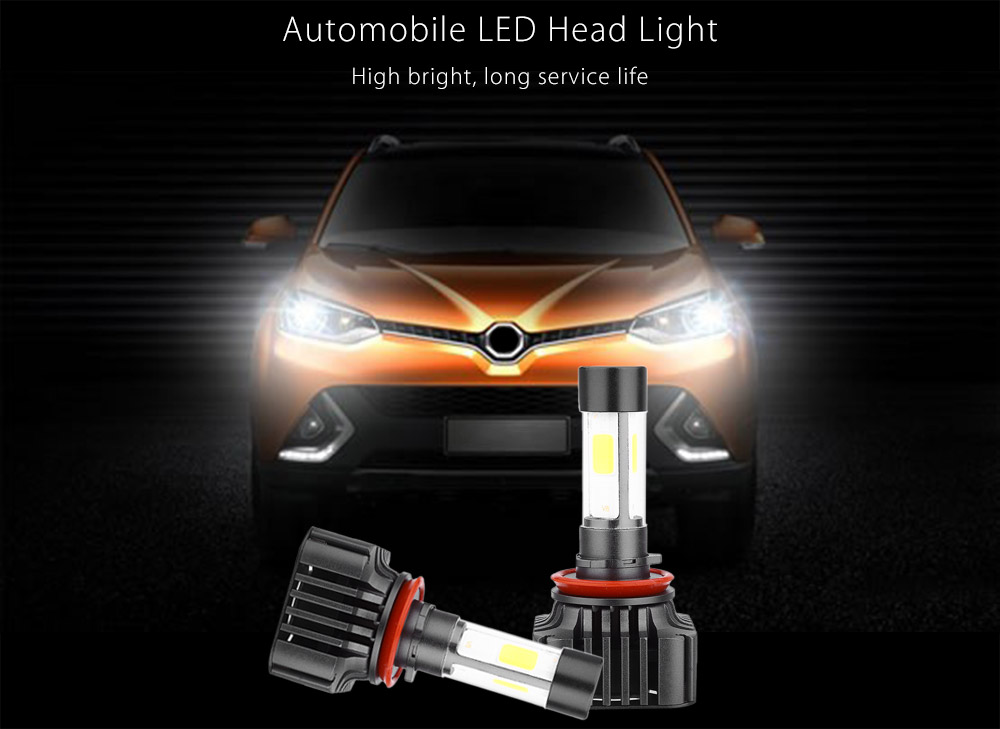 Paired V8 H11 40W Integrated LED Vehicle Headlight Automobile Vibration Resistance Heat Dissipation