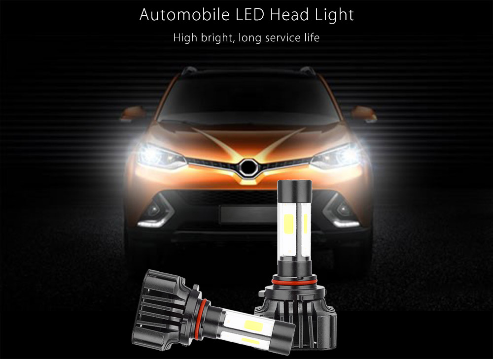 Paired V8 9006 40W Integrated LED Vehicle Headlight Vibration Resistance Heat Dissipation
