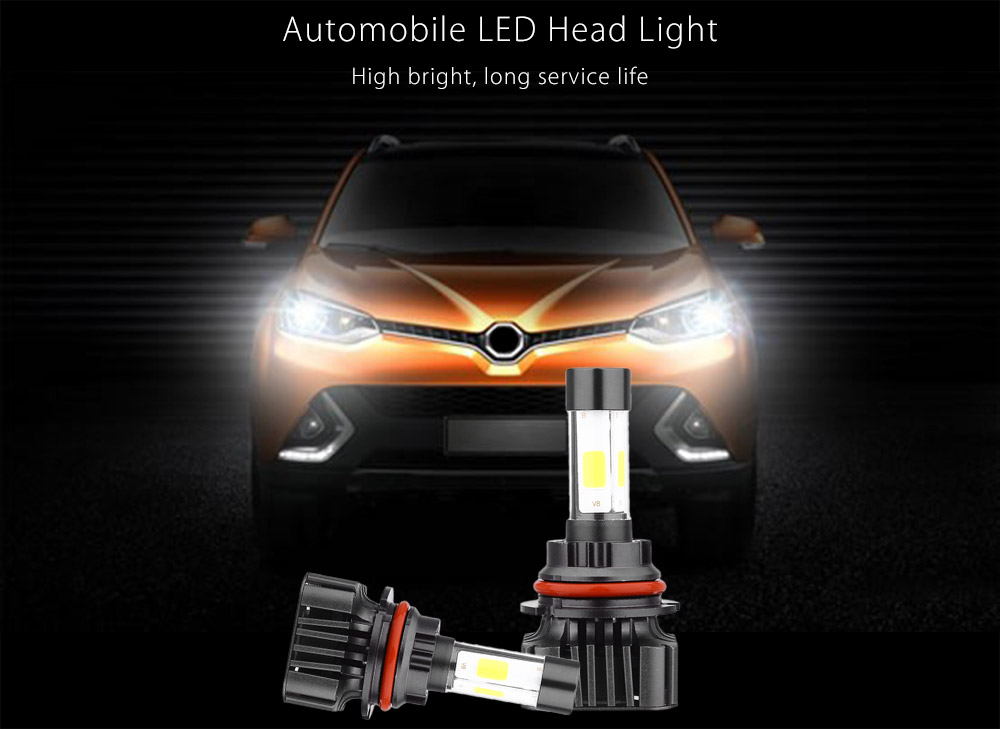 Paired V8 9004 40W Integrated LED Vehicle Headlight Heat Vibration Resistance Dissipation