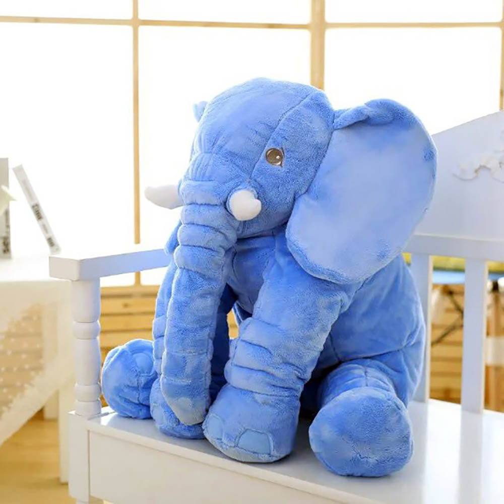 Cute Solid Color Plush Toys Elephant Pillow