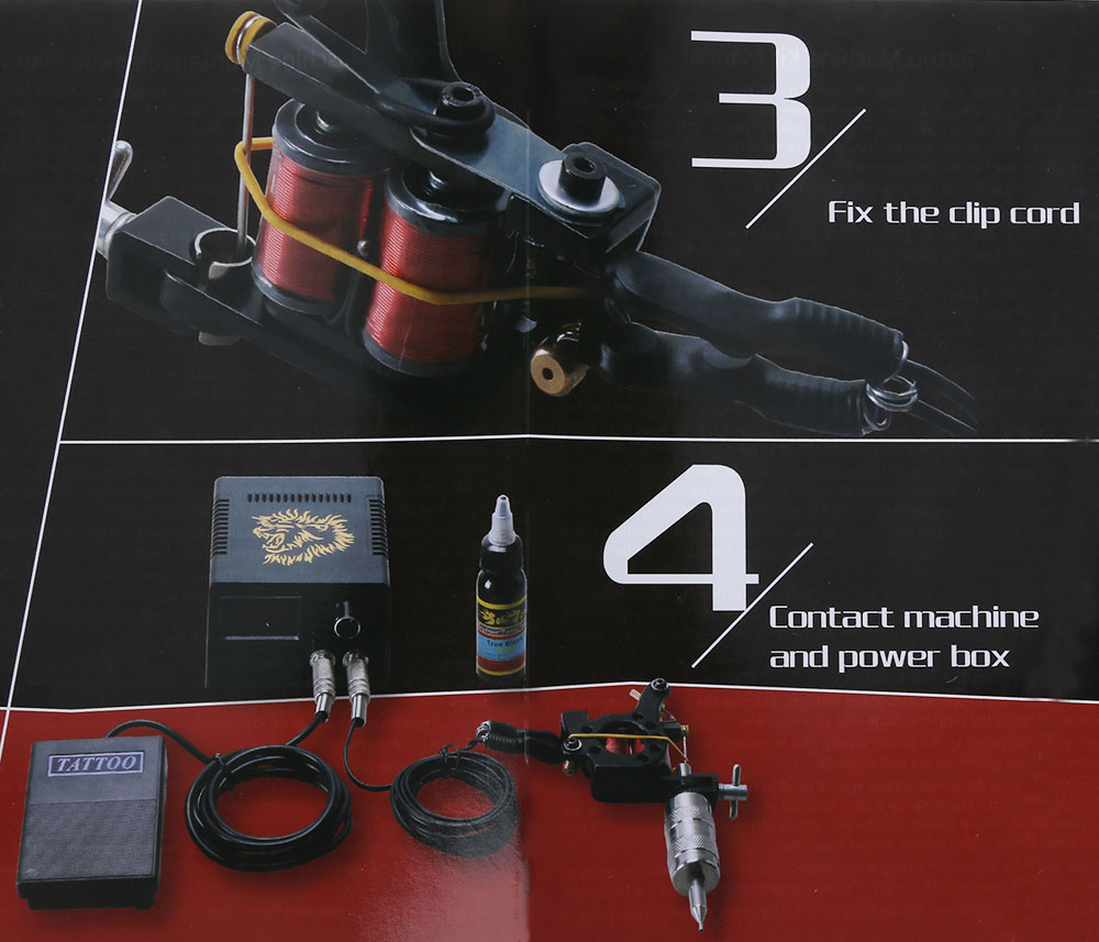 Solong Tattoo Kit Carbon Steel 10 Wrap Coils Shader Machine Gun Power Supply 20 Needles 8 Colors for Beginner