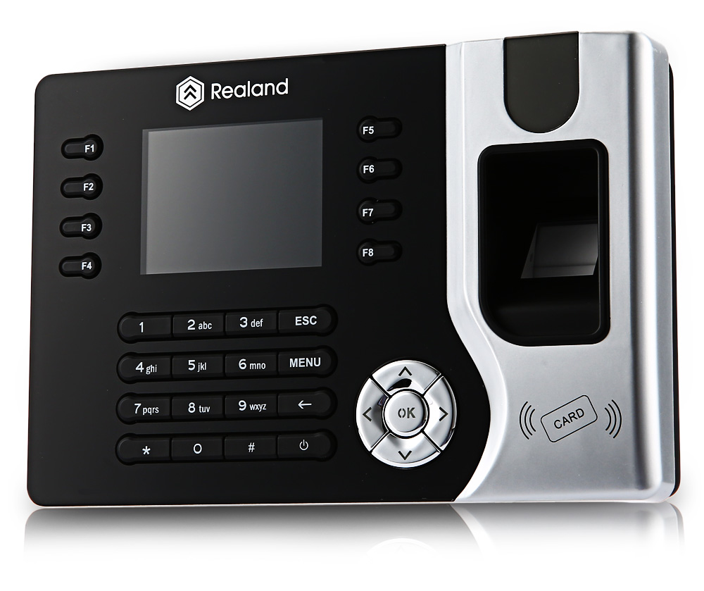 Realand A - C071 2.4 inch TFT Biometric Fingerprint Time Attendance Clock with Three Identification Mode for Employees Payroll Recorder
