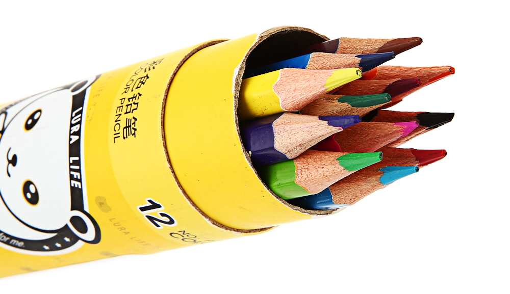 Zibom 12 Colored Pencil Kit Drawing Pen for Artist Sketch