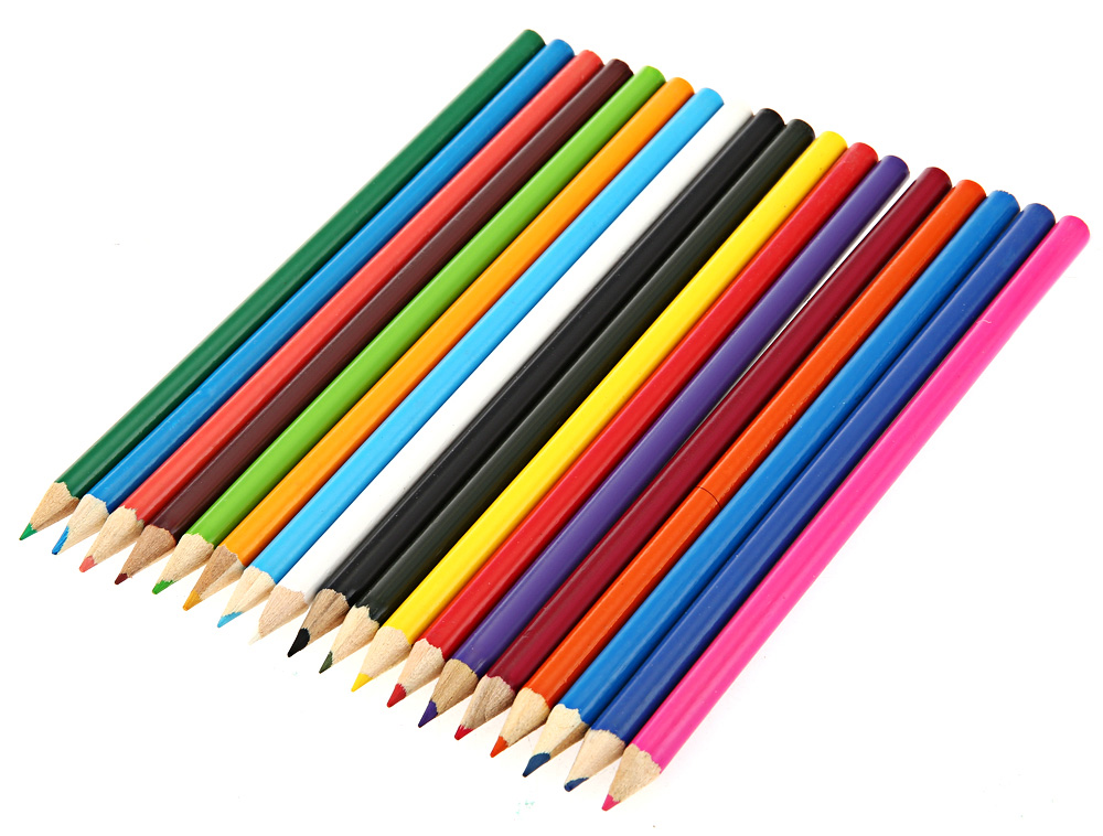 Zibom 18 Colored Wooden Pencil Kit Drawing Pen for Artist Sketch
