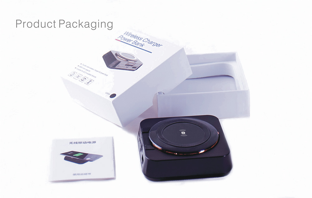 4 in 1 Qi Wireless Charger Double Size Available Charging 8000mAh Power Bank